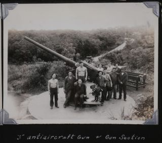 Historically Important Album with 115 Original Gelatin Silver Photos of Fort Randolph and other...