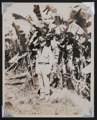 [Historically Important Album with 115 Original Gelatin Silver Photos of Fort Randolph and other Military Fortifications of the Panama Canal Zone, Showing Various Facilities, Artillery Guns and Mortars, Anti-Aircraft Searchlights, Soldiers, American and Japanese Naval Ships in the Canal, Military Planes, Also Views of Colon, Cristobal, Portobelo, San Blas Islands, Panama City, Balboa, Portraits of Native Panamanians, etc., Titled:] Fort Randolph, C.Z. Service Album.