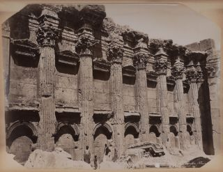 Album with 39 Original Albumen Studio Photos, Including 26 Images of Baalbek and Beirut in...