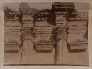 [Album with 39 Original Albumen Studio Photos, Including 26 Images of Baalbek and Beirut in Lebanon; the Rest of the Photos Shows Damascus, Jerusalem, and Istanbul].