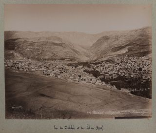 [Collection of 72 Original Albumen Studio Photos, Housed in an Attractive Period Folder, Titled:] Constantinople, Athènes, Syrie, Palestine.