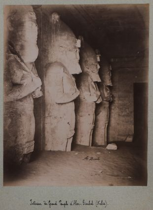 [Collection of 63 Original Albumen Studio Photos, Housed in a Custom-Made Folder, Titled:] Le Caire, Egypte, Nubie.