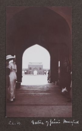 [Album with ca. 321 Original Gelatin Silver Photos and Cyanotypes, Documenting the 1914 Travel Across India by Young Women's Christian Association Officials from the United States, and Showing YWCA Associates and Facilities in India, Official Meetings, Picnics and Outings, Native Girls (Several Dressed in Western Dress), as well as Views of Madras, Calcutta, Bombay, Delhi, Agra, Benares, Darjeeling, etc., and Photos from the Side Trips to the Khyber Pass and Kashmir].