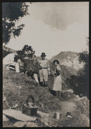 [Two Albums with 94 Large Original Gelatin Silver Photos from a Mountaineering Trip to the Chamba Princely State, Showing Chamba City and Valley, Local Officials, the Travellers (Including Two Ladies) Trekking and Ascending the Western Himalayas, Their Guides and Porters, Local People, etc.]
