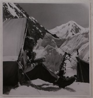 "[Collection of 189 Original Gelatin Silver Photographs Taken during the 1934 ""International Himalaya Expedition"" to the Karakoram – the Upper Baltoro Glacier, and Sia Kangri (Queen Mary Peak) and Baltoro Kangri (the Golden Throne) Mountains]."