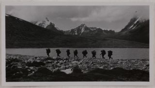 [Collection of Seventy-One Large Original Gelatin Silver Photographs Taken during the 1930 International Himalaya Expedition to Kangchenjunga].