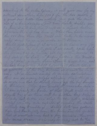 """[Autograph Letter Signed Describing the Operations of a Gold Quartz Mill in the Pleasant Valley near Placerville, El Dorado Country, the Author's Partnership with the """"Pleasant Valley Quartz Lead"""" owned by """"Mr. Deihl,"""" and His Concerns about the New Steam Boiler]."""