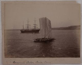 [Interesting Collection of Twelve Albumen Photographs Documenting an Early Cruise by Steamship from Guayaquil, Ecuador to Lima, Peru with Stops in Peru Along the way].