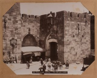 [Album with Fifty Large Original Albumen Photographs Showing Religious Sites and Views of Jerusalem, Bethlehem, and Jaffa.].