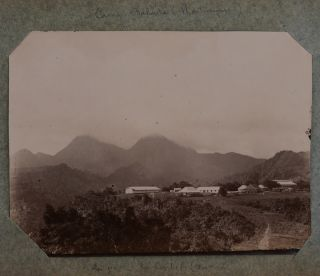 """[Album with Twenty-Eight Original Gelatin Silver Photos of Martinique, Showing Fort-de-France (General Views, Streets, Public Library, """"Grand Hotel Europe,"""" Public Ferry, Rivière Madame), Military Camp Balata and French Officers, """"Martiniquaises,"""" et al.]"""