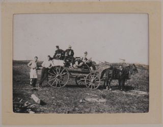 [Album with Fifty-five Original Gelatin Silver Photos of Construction of the Canadian Pacific Railway's Extension in Saskatchewan, Showing Wolseley, Grenfell, Construction Camp and Party Members, Railway Tracks, Bridges under Construction, etc.].