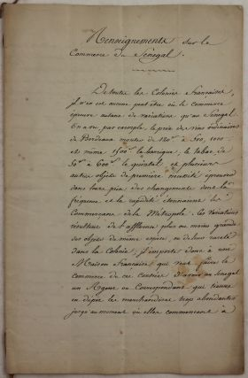 Autograph Manuscript Signed by Charles Picard Detailing Opportunities and Advice for Trade in...