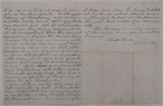 [Original Autograph Letter to an Agent of a Potential Buyer for a Mining Property in California, Urging Him to Make up His Mind and Complete the Negotiations Because the Repairs of Machinery Need to Be Done and the Mine Needs to be Pumped before the Winter Rains].