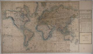 A Map of the World in Japanese by Ed. Schnell Yokohama February 1862 (Bankoku Kokaizu). ASIA -...