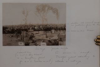 [Album with Four Pencil Drawings and Forty-Six Original Gelatin Silver Photos, Including Thirty-Four Images Taken while on Service in Sierra Leone and during the Hut Tax War of 1898-1899; With a Lithographed Plan of the Cape Coast Castle, Compiled by Foulkes for the War Office].