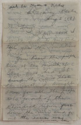 Historically Important Autograph Letter Signed from Early Prospector, Joe A.Y. to his friend...
