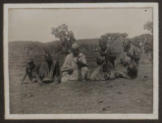 """[Album with 99 Gelatin Silver Photos of Northern Nigeria Taken During the Construction of the Baro-Kano Railway; With a Manuscript Letter Written on a Leaf with the Official Printed Letterhead of """"Assistant Engineer, Baro-Kano Railway"""" and Talking about Issues with Railway Traffic in February 1907]."""