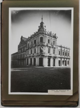 [Album with Thirty-Five Large Gelatin Silver Studio Photos of Paraguay, Presented and Signed by the American Ambassador George L. Kreeck to a Noted Writer Frances Parkinson Keyes during her Tour of South America; The Photos Include Views of Buildings and Sites in Asunción, Paraguay Military Regiments, Portraits of Graduates from the Asunción School of Aviation, Elementary Schoolchildren, Paraguayan President José Eligio Ayala, etc.]