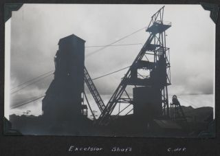 """[Album with 178 Gelatin Silver Photos and Real Photo Postcards, Including Over 130 Images of Peru and the Mining Activities of the American-Owned """"Cerro de Pasco Copper Corporation"""" in Central Peru in the late 1930s; the 48 Other Photos show Ecuador, Panama Canal, and the Niagara Falls; With: a Printed Illustrated Advertising Leaflet of """"Cerro de Pasco Copper Corporation"""" and Millar's Membership Certificate of the US Bureau of Commercial Fisheries' """"Guinea Pig Club""""]."""