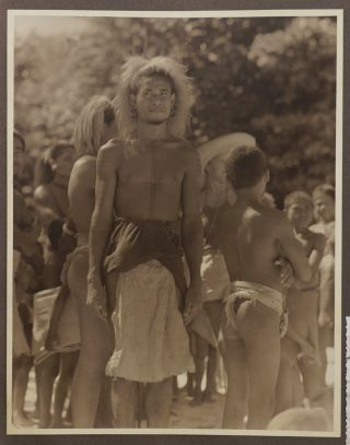 [Album with 214 Original Gelatin Silver Photos, Including ca. 111 Photos Taken during Jean Empain's Cruise to the South Pacific, New Guinea, and Dutch East Indies in 1933].