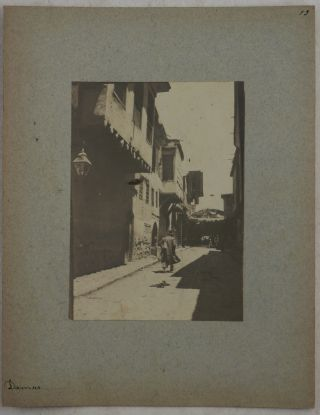 [Collection of Thirty Loose Original Gelatin Silver Photos, Showing Streets and People in Damascus, and the site of the Banias Village North of the Golan Heights].