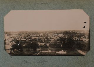 [Album with 42 Original Gelatin Silver Photos Taken by a French Officer During His Service in the 4th Regiment of the Tirailleurs Tonkinois (Tonkinese Rifles) in the Early 1900s, Showing Bac Ninh, Nam Dinh, the Red River, the Aftermath of the Typhoon on June 7, 1903, Binh-Lieu, Sept Pagodes, Poste de Lam, Ni Chi Military Post in the Lao Cai Province, Portraits of the Yao People, etc.].