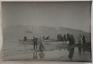 Collection of Forty-four Large Original Platinum Print Photos Showing Spitsbergen during the...
