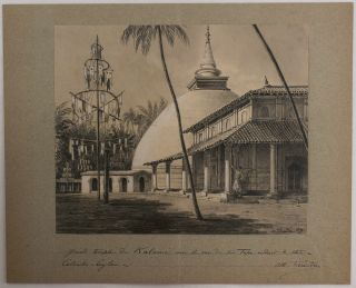 "[Twenty-One Original Drawings by Albert Tissandier Showing Buddhist Temples, Sculptures, Ruins, Local People and Landscapes in Sri Lanka and India, Several of Which were Published in the French Scientific Journal ""La Nature"" and Tissandier's 1892 Book ""Voyage Autour du Monde""]"