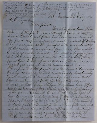 Historically Important Autograph Letter Signed from J. Leavers, an Early Settler of Port Ludlow,...