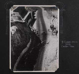 [Interesting Album with Forty-two Large Original Photographs of the Aden Protectorate in Yemen in WW2 Compiled by a Member of the No. 131 M.U. (RAF Maintenance Unit) Stationed in Khormaksar, Aden March 1942, Including Nine Photos of the Environs of Cape Town at the end].