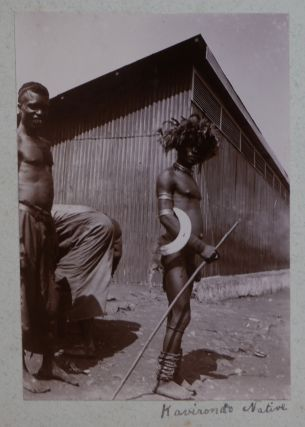 [Album of Fifty-Six Original Gelatin Silver and Platinum Photographs Showing Ethnographic Views and Colonial Buildings and Infrastructure in Kenya, Uganda and Tanzania Following the Construction of the Uganda Railway (1896-1901).]