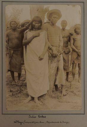 [Historically Important Album with Fifty Original Gelatin Silver Photograph Portraits of Indigenous Peoples from the Chaco Boreal and Nearby Regions of Eastern Bolivia, including Chiriguano & Tembeta (Eastern Guarani), Mataco & Noctene, Chorote, Toba & Topiete People, Quechua from the Potosi Department and Aymara from Western Bolivia, Showing Chiefs, Missionary Schools, Family Groups, Villages, Musicians, French Expedition Members and Vaudry Himself; With Detailed Manuscript Captions by Vaudry, the Album is Titled:] Souvenir d'un voyage au Chaco Boreal. Potosi. 4 Juillet 1904.