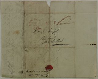 [Historically Early and Important Autograph Letter Signed from Whaling Master Geo[rge] Crocker to his Business Partner in New Bedford, MA, Merchant John Russell, Dated Mowee [Lahaina?, Maui], Nov. 29th,1834. This Content Rich Letter Describes the Crew Including Native Hawaiians, Conditions on the Ship Including a Hurricane, Punishments and Injuries the Crew Sustained, Financial Matters Including Amounts of Whale Oil Harvested and Monies Borrowed, Probable Routes to be Taken in the Pacific and Potential Future Harvests of Whale Oil. Overall a very Early and Historically Important Letter Documenting the Beginnings of American Whaling in the South Pacific.