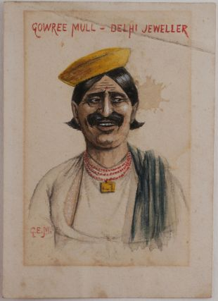 "[Extensive Private Archive of 29 Letters, Describing Her Life as an Upper Class Lady in British India, with Notes on the Vice Roy of India, Lord Hardinge and an Attempt of Hardinge's Assassination, Planning of the Construction of New Delhi, Fort William in Calcutta, Delhi Fort and Chandni Chowk Market, Indian People and House Servants, Mixed Anglo-Indian Marriages, Military Parade in Dalhousie, Indian Mutiny, WW1, etc. One Letter Illustrated with a Photo View ""from Dalhousie""; With: Four Photograph Portraits of Charles and Sybil Macleod, and Six Caricature Watercolour Portraits of Native Indians]."