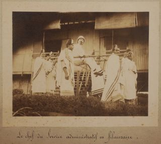 [Collection of Forty-nine Original Gelatin Silver Photographs Showing Madagascar's Newly Appointed Governor, General Joseph Gallieni and Other French Officials During Their Tours Through Madagascar's Administrative regions (Ambohidratimo, Antanarivo, Mahajanga, Diego-Suarez, Sainte Marie etc.), Additionally an Execution Including a French Soldier, Hospital and Road Construction, and Interesting Portraits of Malagasy People].