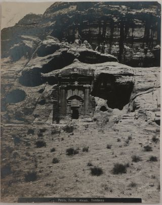 [Historically Important Collection of Thirteen Large Platinum Print Photographs of some of the Main Sites at Petra, Jordan].