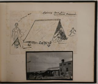 [Two Albums with 199 Original Gelatin Silver Photographs Showing Ascension Island, Including the Laying of Cable for the Western Telegraph Company in 1910, Military Presence, Local Life, Buildings and Landscapes].