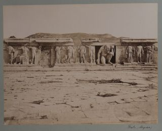 [Collection of Twenty-one Large Albumen Photographs of Classic Period Sights in Greece with Eighteen Taken in Athens with an Emphasis on the Acropolis Including Photos of the Parthenon, Olympieion, Erechtheion, Theater and the Temple of Athena Nike].