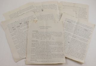 Typewritten Manuscript Account of the Fifth Ascent of Aconcagua, by British Climber Edward de la...