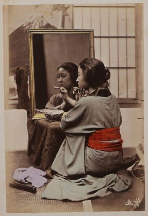 Album of Fifty Original Hand-Coloured Albumen Photographs of Geishas by a Japanese...