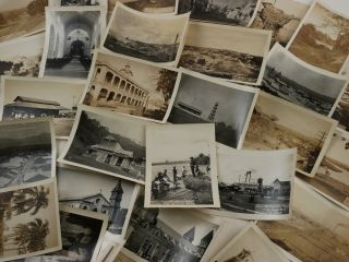 [Rare Collection of Thirty-two Gelatin Silver Photographs Showing Important Buildings and Street Scenes from Santiago [De Los Caballeros] and Environs].