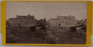 [Collection of Forty-Eight Original Albumen Stereo-view Photographs of Jerusalem, Bethlehem, Bethphage and Bethany, Issued in the Series:] Souvenirs de Terre Sainte.