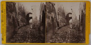 [Collection of Forty-Eight Original Albumen Stereo view Photographs of Jerusalem, Bethlehem, Bethphage and Bethany, Issued in the Series:] Souvenirs de Terre Sainte.