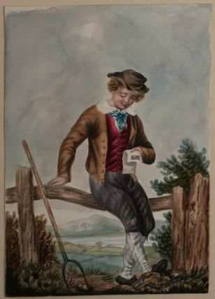 Album with Thirty Original Watercolours Showing English Costumes of the Regency Era]. EUROPE -...