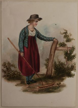 [Album with Thirty Original Watercolours Showing English Costumes of the Regency Era]